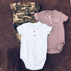 Carters baby boy onesies, new never worn